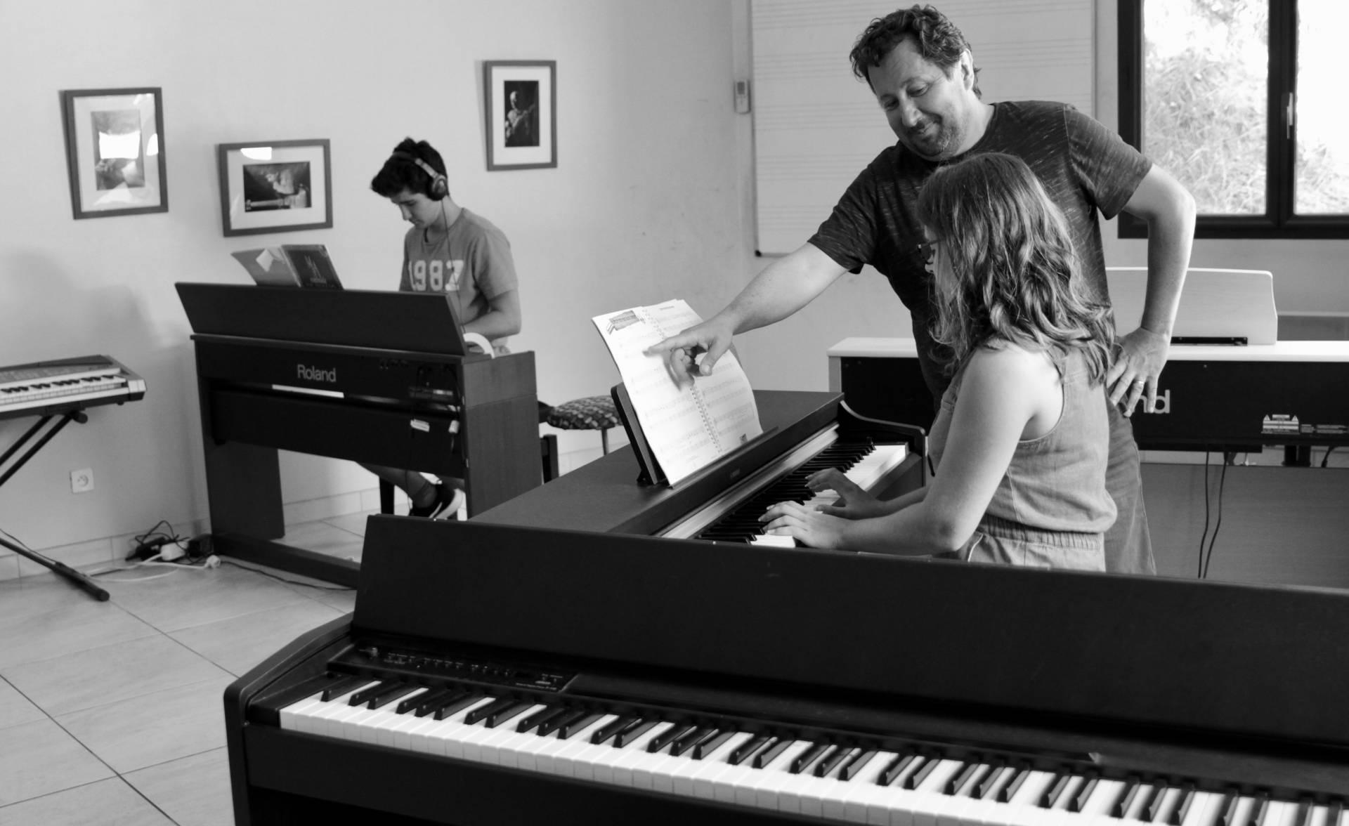 Cours collectif piano pompertuzat proche castanet