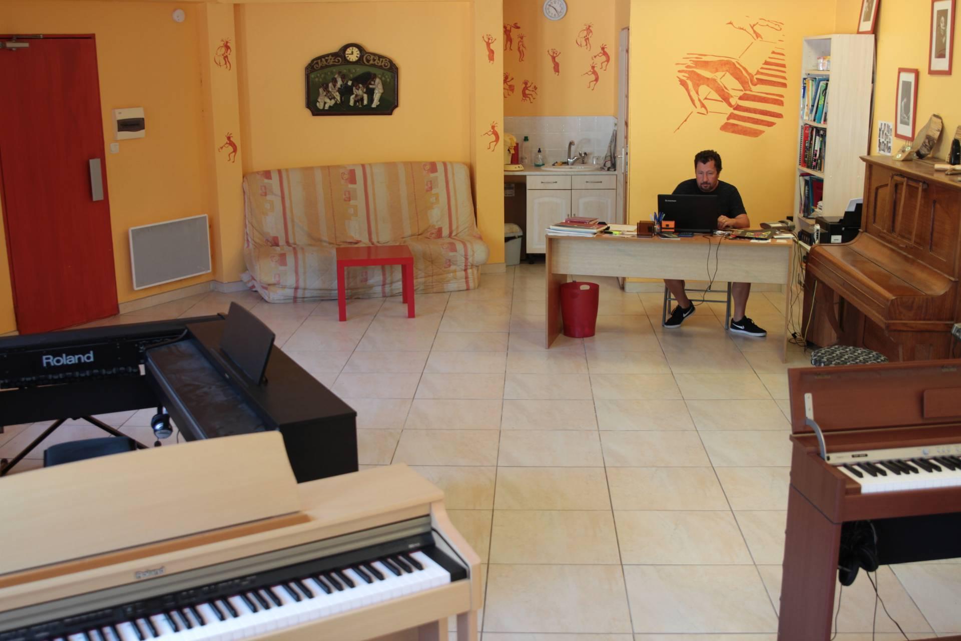 Salle de cours de piano